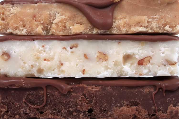 Fudge mit dunkler und heller Schokolade