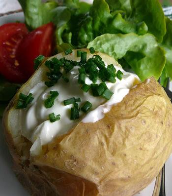 Rezept für Baked Potato - Backkartoffel