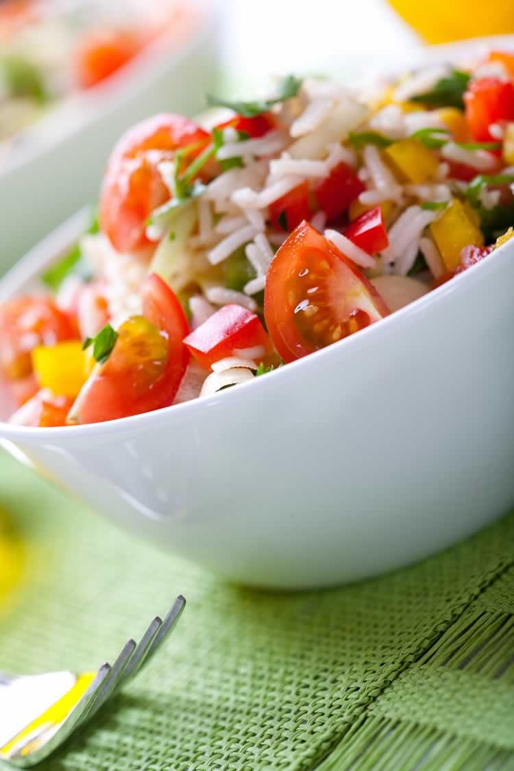 Confetti Rice Salad (bunter Reissalat)
