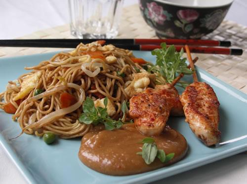 Rezept für Fried Noodles - gebratene Nudeln