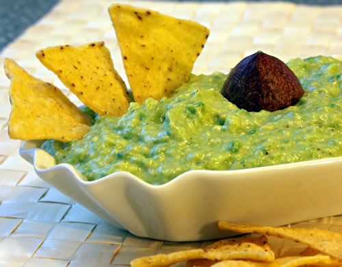Guacamole with Chips (low-fat, low-salt)