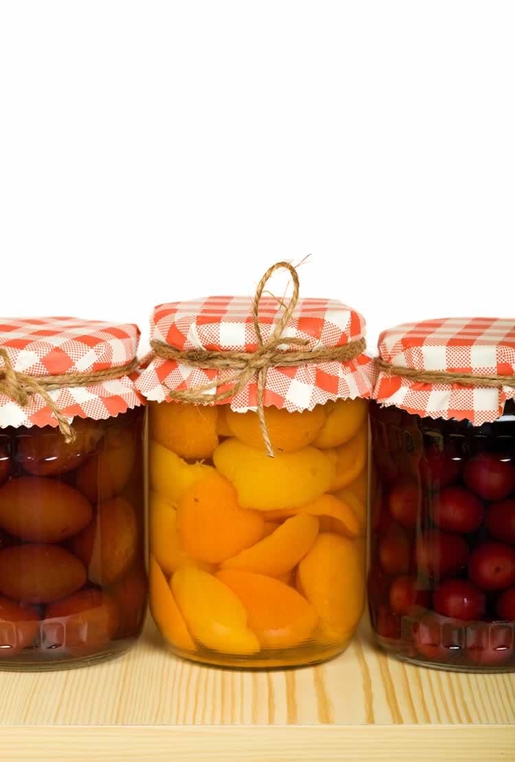 Canned Spiced Peaches (eingelegte Pfirsiche)