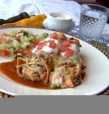 Rezept für Enchiladas - überbackene Tortillas
