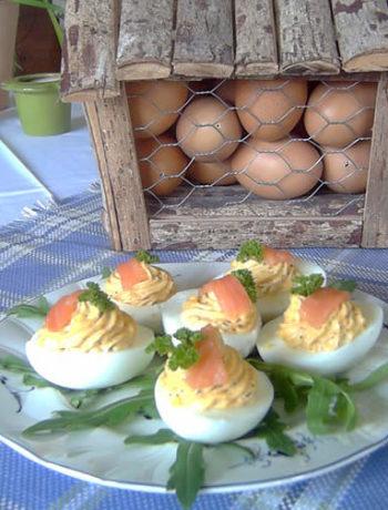 USA Rezept für Deviled Eggs - gefüllte Eier