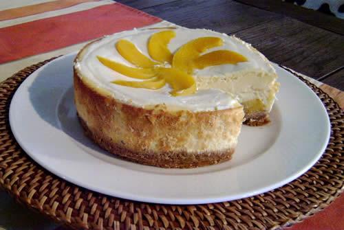 Peach-Amaretto-Cheesecake (Pfirsich-Käsekuchen)