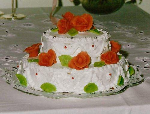 Hochzeitstorte – Teigvariation Carrotcake