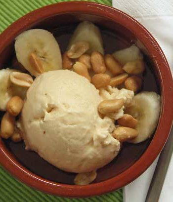 Peanut Butter Ice Cream / Erdnussbuttereis Elvis