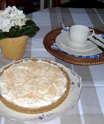 Rezept für Coconut Cream Pie - Kokosnusskuchen