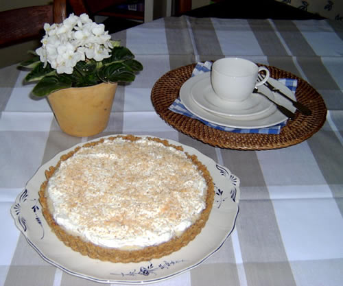 Coconut Cream Pie (Kokosnusskuchen)