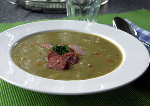 Yellow Pea Soup (Erbsensuppe)