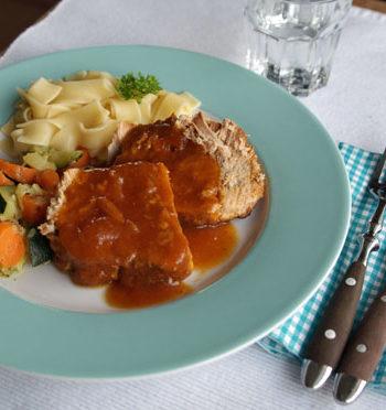 Rezept für Apricot Pork - Schweinebraten in Aprikosensauce
