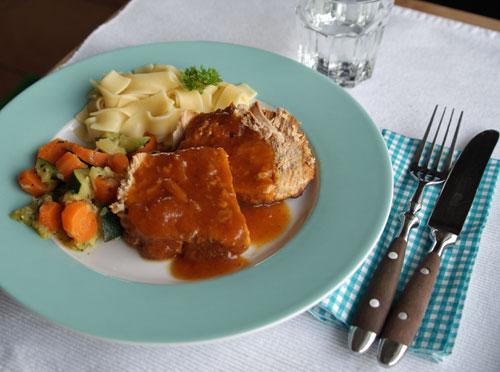 pork tenderloin crockpot schweinebraten usa kulinarisch. Black Bedroom Furniture Sets. Home Design Ideas