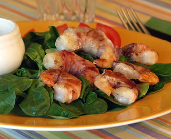 Rezept für Bacon Wrapped Shrimp