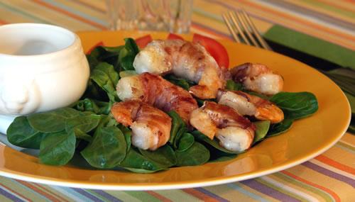 Rezept für Bacon Wrapped Shrimp
