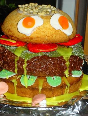 Rezept für Burger Cake