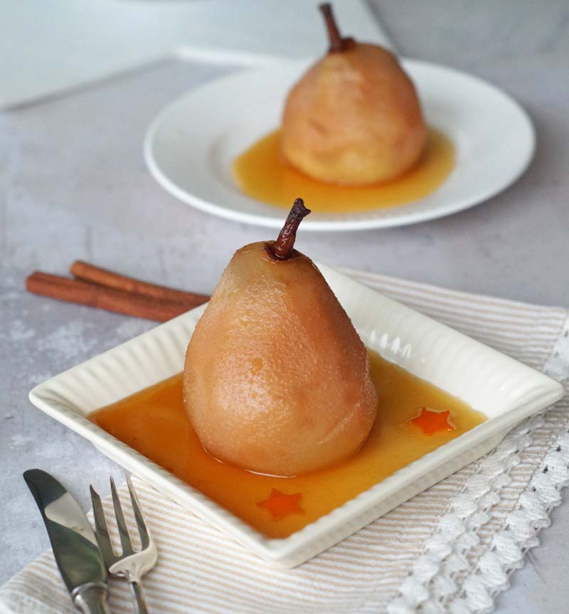Maple Sauced Pears (Birnen mit Ahornsirup)