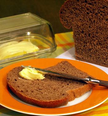 Rezept für Bushman Bread - dunkles Haferbrot