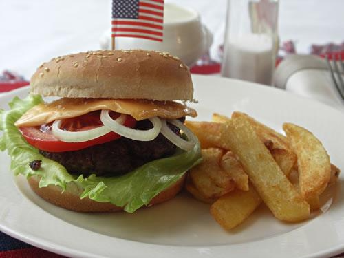 Rezept für selbst gemachte Cheeseburger