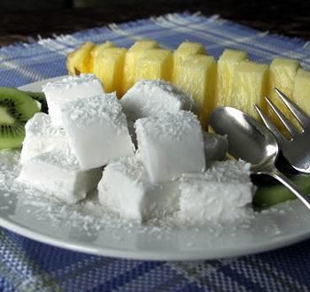 Rezept für Haupia - Kokospudding aus Hawaii