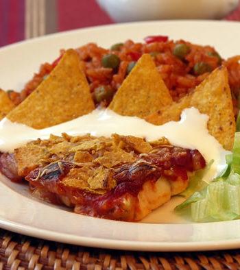 Mexican baked fish - gebackener Fisch
