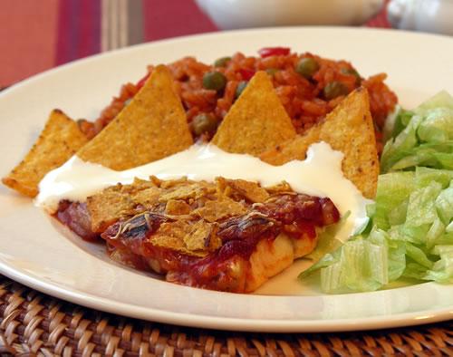 mexican baked fish fisch auf mexikanische art usa kulinarisch. Black Bedroom Furniture Sets. Home Design Ideas