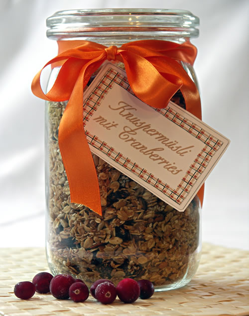 Maple Cranberry Granola (Knuspermüsli mit Cranberries)