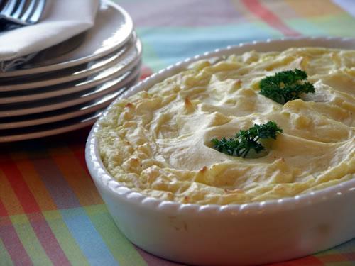 Party Potatoes (Kartoffelpüree mit Frischkäse)