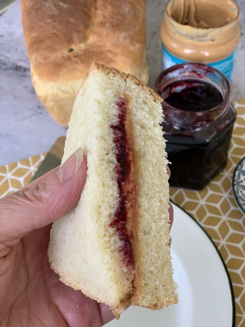 USA-Rezept für Erdnussbutter-Sandwich