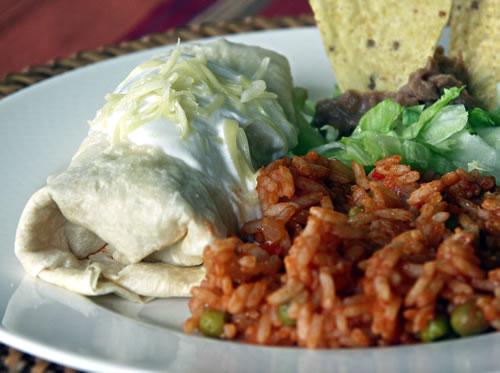 Burritos (gefüllte Weizentortillas)