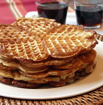 Rezept für Yeast Waffles - Hefewaffeln