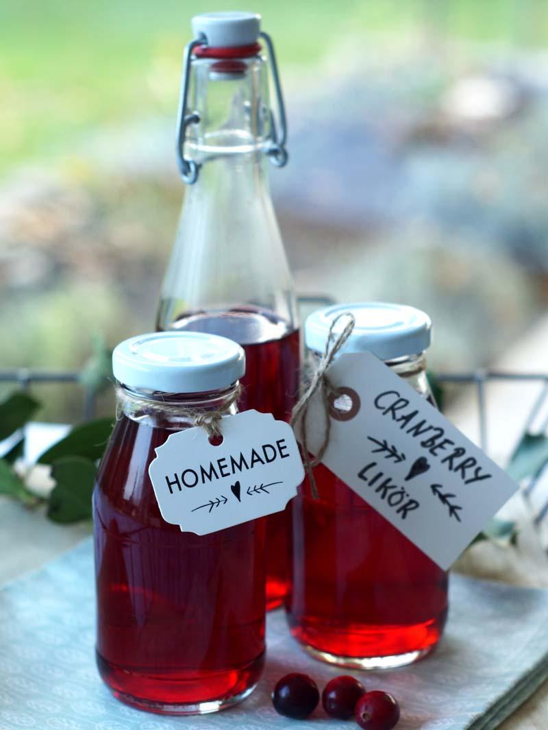 USa-Rezept für selbst gemachten Cranberry-Likör