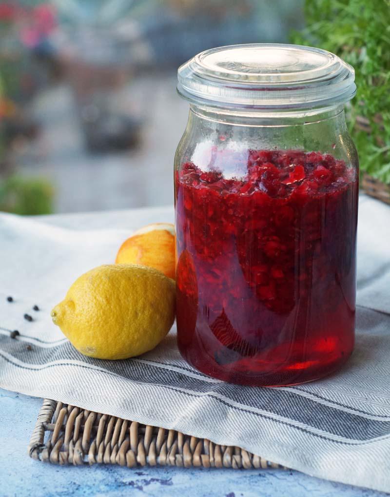 Rezept für Cranberry Likör