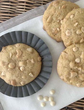 Rezept für White Chocolate Macadamia Cookies - Macademia-Kekse