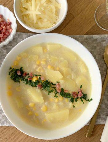 Corn Chowder - Kartoffel-Maissuppe aus Neuengland