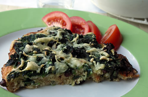 Spinach Cheese Strata (Spinat-Käse-Strata)