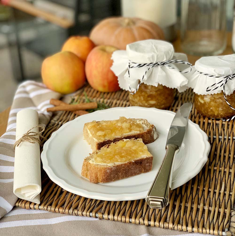 Rezept für Apple Maple Jam mit Zimt und Ahornsirup