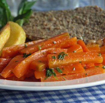 USA-Rezept für Maple Carrots / Möhren in Ahornsirup