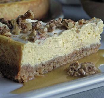 Rezept für Walnut Cheesecake - Walnusskäsekuchen