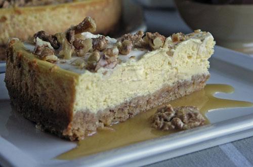 Maple Walnut Cheesecake (Käsekuchen mit Nüssen und Ahornsirup)