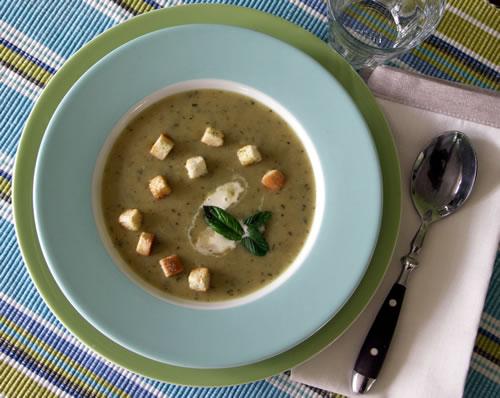 USA-Rezept für Zucchini Bisque - Zuchhinisuppe
