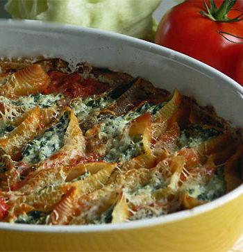 Jumbo Pasta Shells - gefüllte Muschelnudeln mit Spinat