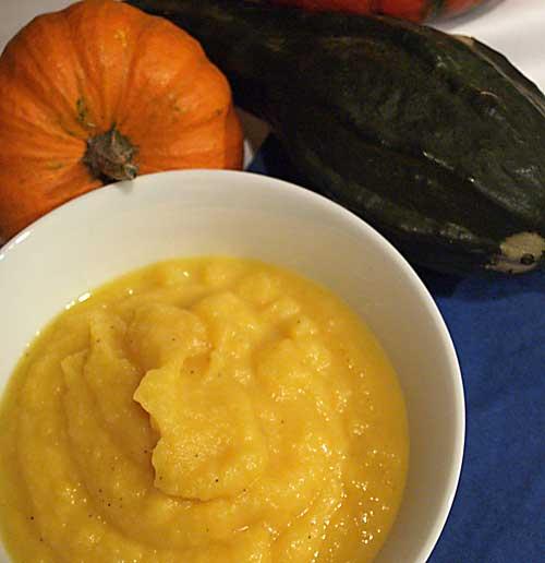 Kürbispüree (als Beilage oder Füllung, Pumpkin Puree)