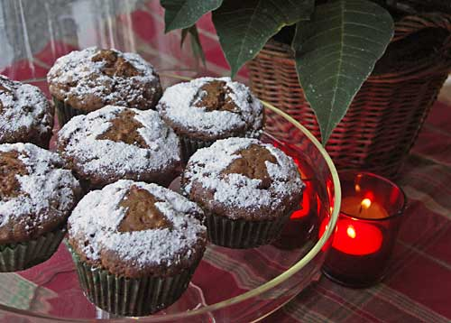 gingerbread muffins lebkuchen muffins usa kulinarisch. Black Bedroom Furniture Sets. Home Design Ideas
