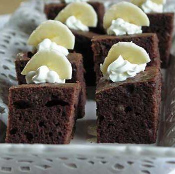 Banana Fudge Brownies - Bananen-Brownie