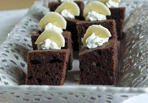 Banana Fudge Brownies - Bananen-Brownie