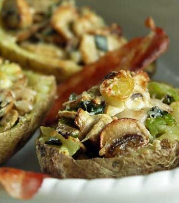 Rezept für Stuffed Potatoes - gefüllte Backkartoffeln