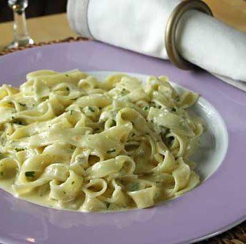 Rezept für Spaghetti Alfredo