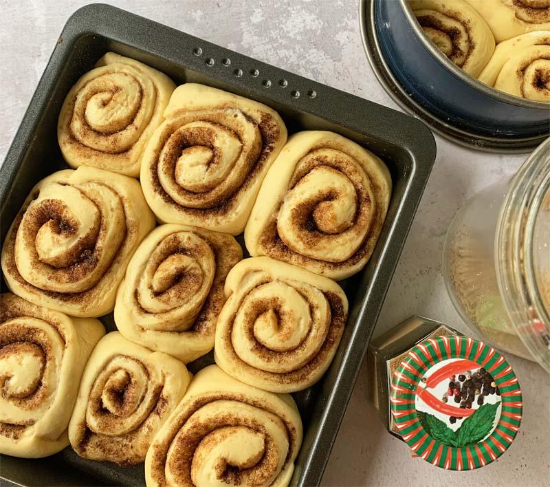 USA-Rezept für Cinnamon Rolls wie von Cinnabon - Teig in Formen