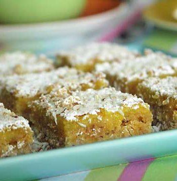 USA-Rezept für Lemon Bars - Zitronenschnitten