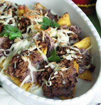 Rezept für Nachos - überbackene Tortillachips